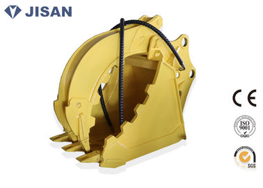 Non Rotary Excavator Grab Bucket Hydraulic Large Jaw Opening For CAT320 CAT330