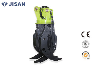 Hydraulic Rotating Excavator Log Grab Wear Resistant Fit CAT320 20 Ton Excavator